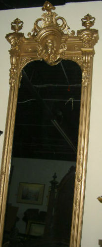Huge 11 Antique Victorian Italianate Pier Mirror W Eagle