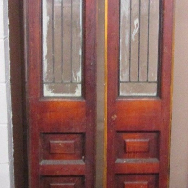 Pair Of Antique Beveled Plain Glass Door Side Lites An Indy